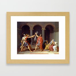 Oath of the Horatii by Jacques-Louis David Framed Art Print
