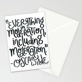 Moderation (blue) Stationery Cards