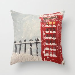 London Blizzard Throw Pillow