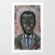 Black Jeff Koons (oil on canvas) Art Print