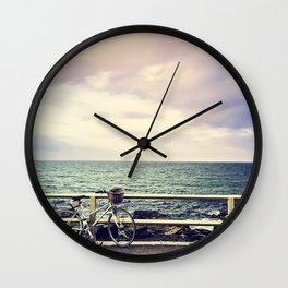 Bicycle on Fence Wall Clock
