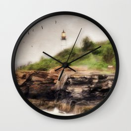 The Light Will Guide You Wall Clock