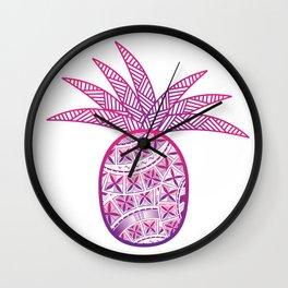 UrbanNesian Purple & Magenta Fineapple Wall Clock