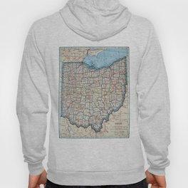 Vintage Map of Ohio (1921) Hoody