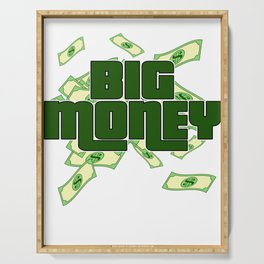 """""""Big Money"""" tee design. Perfect for money lovers like you! Makes an awesome gift to your family too! Serving Tray"""