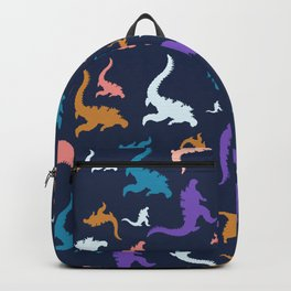 godzilla pattern 02 Backpack