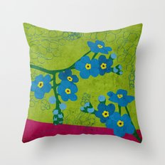 Flowers: Forget me not Throw Pillow