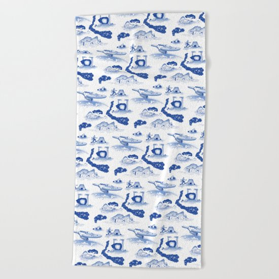 Pop Porcelain- Final Frontier  Beach Towel
