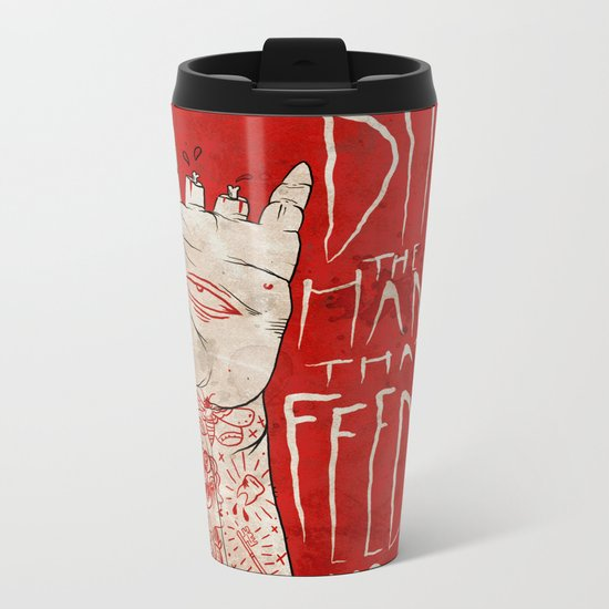 bite the hand. Metal Travel Mug