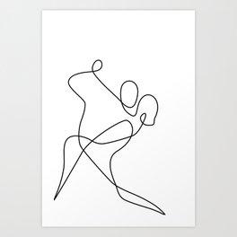 minimal line dance Art Print