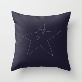 Lonely Star - Navy Throw Pillow