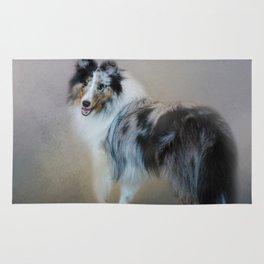 Did You Call Me - Blue Merle Shetland Sheepdog Rug