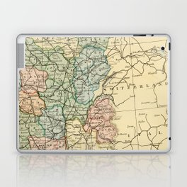 Old Map of the East of France Laptop & iPad Skin