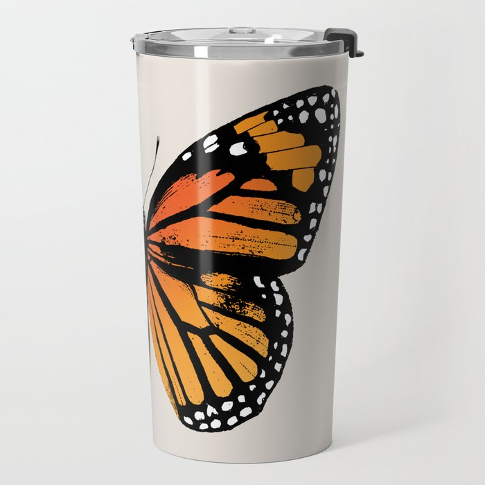 Monarch Butterfly | Vintage Butterfly | Travel Mug