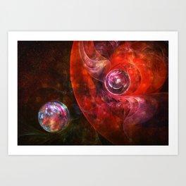 Spheres of Fire Art Print