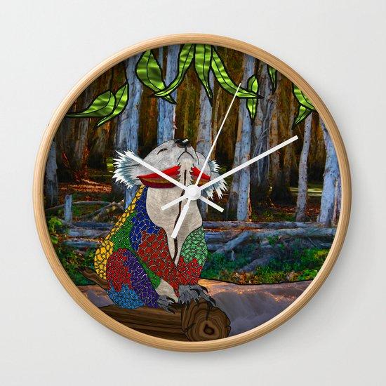 Doodlage 07 - Koala Dreaming Wall Clock