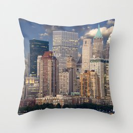 New York Manhattan Throw Pillow