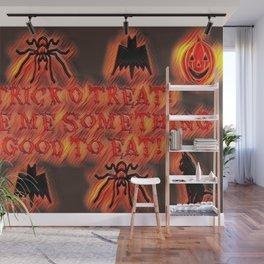 Trick O Treat! Flame Wall Mural