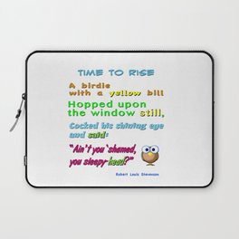 Nursery Classic Rhyme Time to Rise Laptop Sleeve