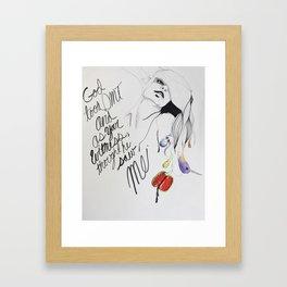 I am God Framed Art Print