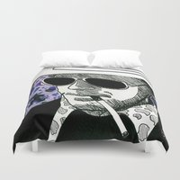 hunter s thompson Duvet Covers featuring Hunter S. Thompson, Bat Country by Abominable Ink by Fazooli