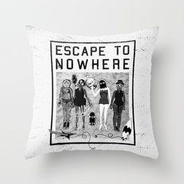 Escape To Nowhere Throw Pillow