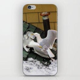 Brawling Gulls (3) iPhone Skin