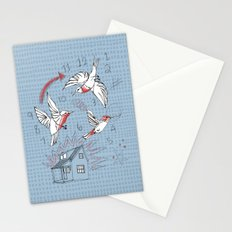 Cuckoo clocking Stationery Cards