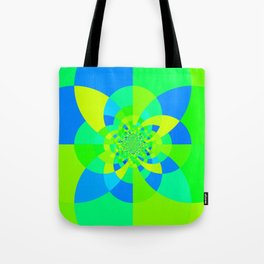 Green & Turquoise Kaleidoscope Design Tote Bag