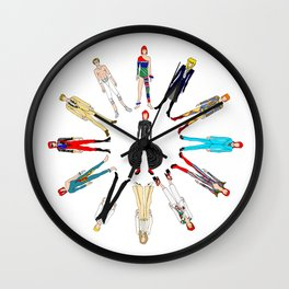 Rock Stars Heroes Costumes Wall Clock