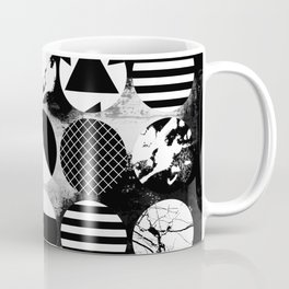 Eclectic Circles - Black and white, abstract, geometric, textured designs Coffee Mug