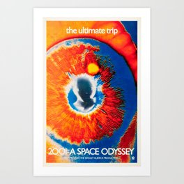 2001: A Space Odyssey 1968 movie poster Art Print