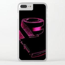 Pink retrO Belt Clear iPhone Case