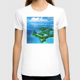 Breathtaking Palau Tropical Islands From the Eyes of Angels T-shirt