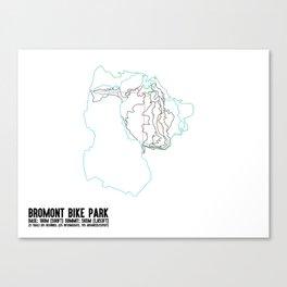 Bromont, QC - Minimalist Summer Trail Art Canvas Print