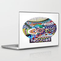john snow Laptop & iPad Skins featuring Snow Globe by JOHN RUSSELL ABSTRACTS