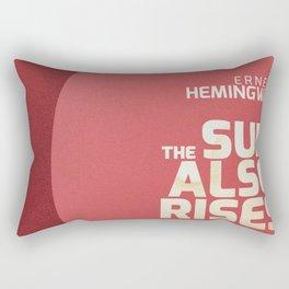 The sun also rises, Fiesta, Ernest Hemingway, classic book cover Rectangular Pillow
