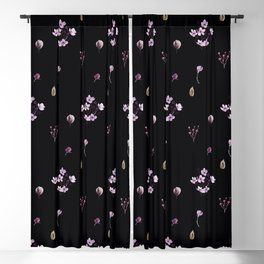 Little bouquets in black Blackout Curtain