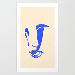 mariage de formes et de couleurs. Art Print
