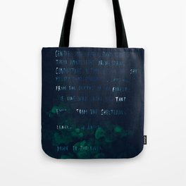 """""""Conquest of the Useless"""" by Werner Herzog Tote Bag"""
