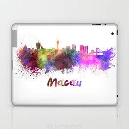 Macau skyline in watercolor Laptop & iPad Skin