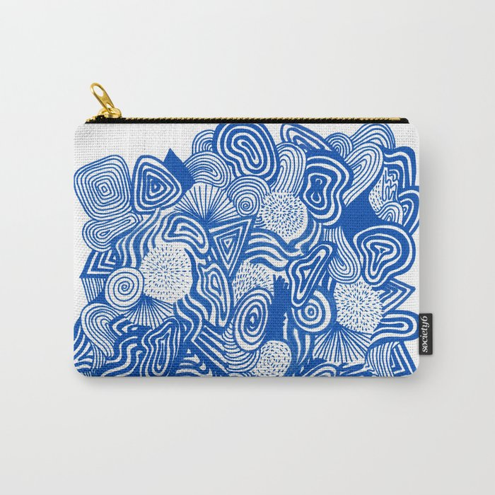 Blue Whirlpool Carry-All Pouch