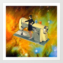 Barbara's Spaceship Art Print