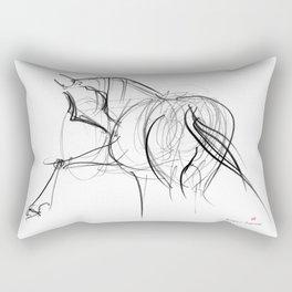 Horse (Ballet dancer) Rectangular Pillow