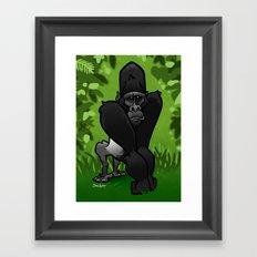 Silverback Gorilla Framed Art Print