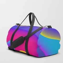 Abstract Wavy Shape Pattern Duffle Bag