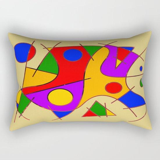Abstract #206 Rectangular Pillow