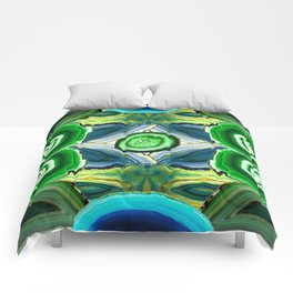 JCrafthouse Agate of Wonder in Royal Green Comforters