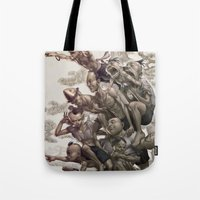 la Tote Bags featuring Ten Brothers by Artgerm™