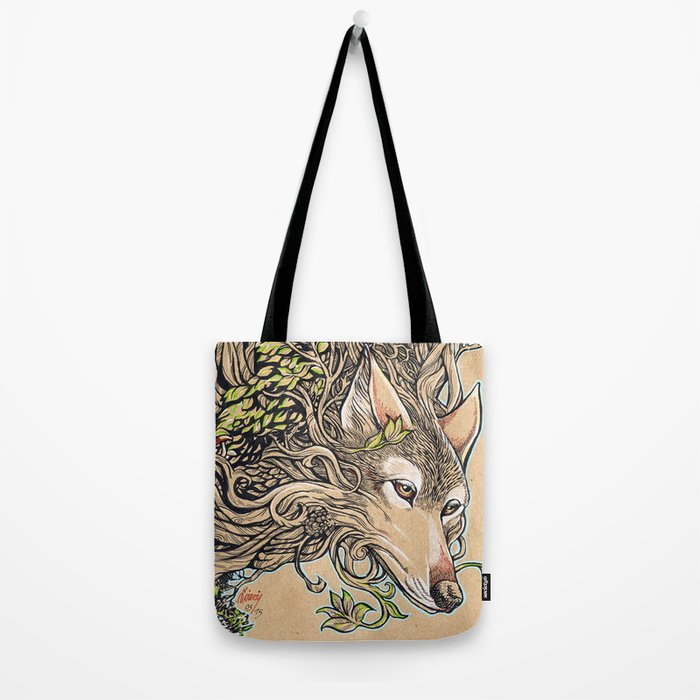 Dog of the Mountain - Honshu Wolf Tote Bag